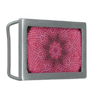 フルーツのボヘミアの目まぐるしく幾何学的な曼荼羅 長方形ベルトバックル