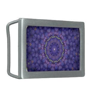 フルーツのボヘミアの目まぐるしく幾何学的な曼荼羅CO 長方形ベルトバックル
