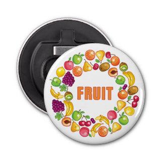 フルーツの円 栓抜き