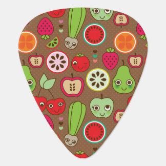 フルーツの台所パターン ギターピック