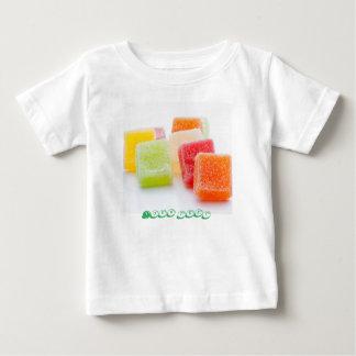 フルーツの味のゼリーの菓子 ベビーTシャツ