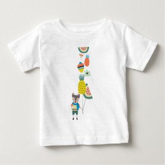 フルーツの気球 ベビーTシャツ