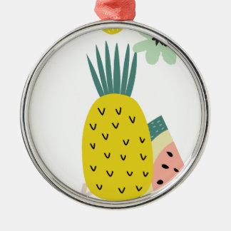 フルーツの気球 メタルオーナメント
