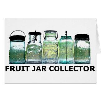 フルーツの瓶のコレクターのヴィンテージの石大工の缶詰になる瓶 カード