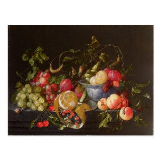フルーツの静物画 ポストカード