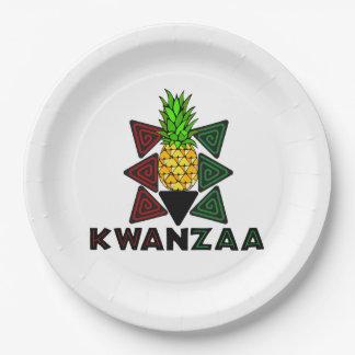 フルーツのKwanzaaの最初パーティーの紙皿 ペーパープレート