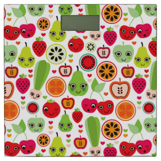 フルーツは絵のりんごをからかいます 体重計