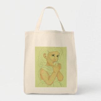 フルーツを持つ女の子 トートバッグ