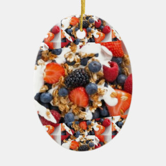 フルーツサラダの食糧シェフの健康な食べ物の料理の芸術 セラミックオーナメント