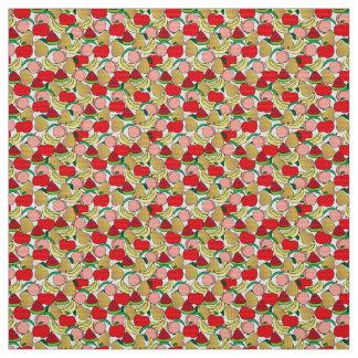 フルーツサラダパターン ファブリック