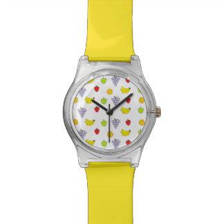 フルーツパターン 腕時計