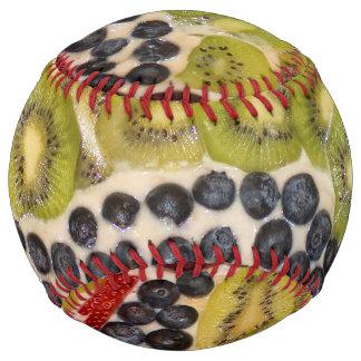 フルーツピザクローズアップの写真 ソフトボール