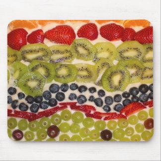 フルーツピザクローズアップの写真 マウスパッド