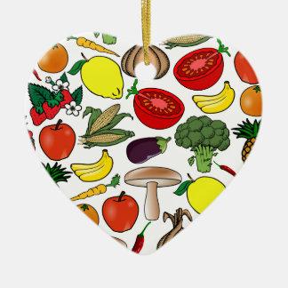 フルーツ及び野菜のオーナメントは、カスタマイズ セラミックオーナメント