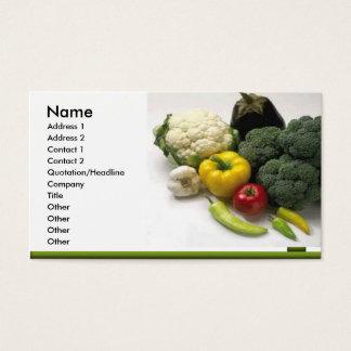 フルーツ及び野菜の名刺 名刺