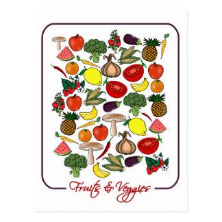 フルーツ及び野菜の郵便はがきは、カスタマイズ ポストカード