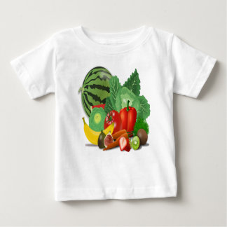 フルーツ野菜のアーティチョークのバナナ ベビーTシャツ