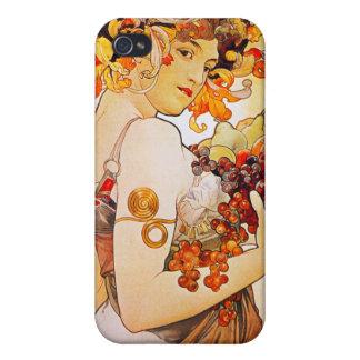 フルーツ、ミュシャ iPhone 4 COVER