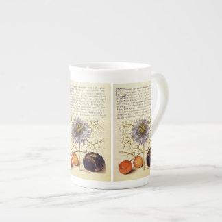 フルーツ、昆虫、花、旧式なJaris Hoefnagel ボーンチャイナカップ