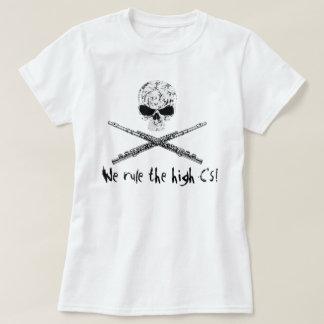 フルートのどくろ印 Tシャツ