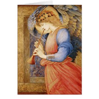 フルートのメッセージカードとのファインアートの天使 カード