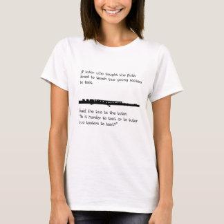 フルートの個人教師 Tシャツ