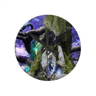 フルートの魔法 ラウンド壁時計