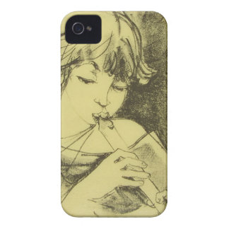 フルートのiPhone 4の穹窖IDを用いる女の子 Case-Mate iPhone 4 ケース