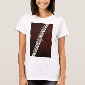フルートプレーヤーまたはフルート奏者のための女性ワイシャツ Tシャツ