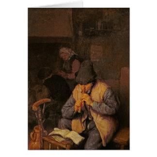 フルートプレーヤー、17世紀 カード