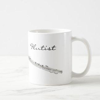 フルート奏者のコーヒー・マグ コーヒーマグカップ