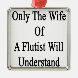フルート奏者の妻だけ理解します メタルオーナメント