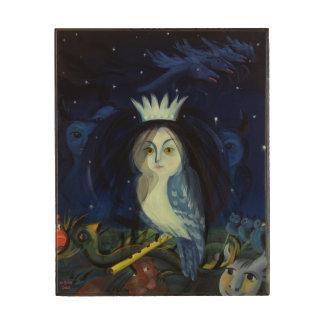 フルート2002年の魔法 ウッドウォールアート