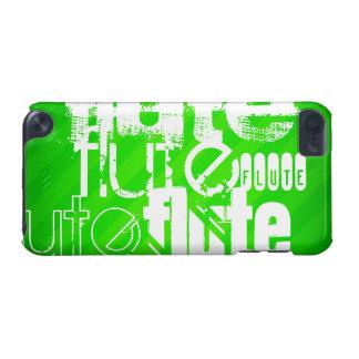 フルート; ネオン緑のストライプ iPod TOUCH 5G ケース