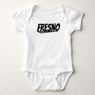 フレズノのレトロのロゴ ベビーボディスーツ