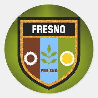 フレズノの旗 ラウンドシール