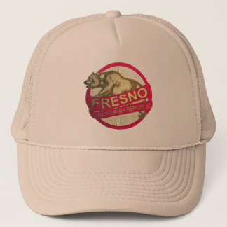 フレズノカリフォルニアのヴィンテージくまのトラック運転手の帽子 キャップ