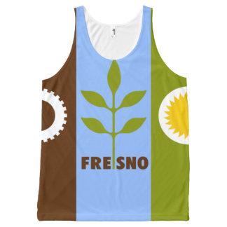 フレズノカリフォルニア都市旗のワイシャツ オールオーバープリントタンクトップ