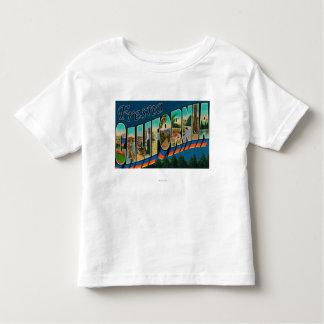 フレズノ、カリフォルニア-大きい手紙場面2 トドラーTシャツ