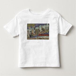 フレズノ、カリフォルニア-大きい手紙場面 トドラーTシャツ