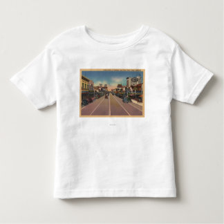 フレズノ、ブロードウェイで北カリフォルニアの眺め- トドラーTシャツ