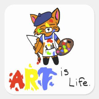 フレッドFox-の芸術家 スクエアシール