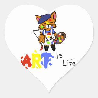 フレッドFox-の芸術家 ハートシール