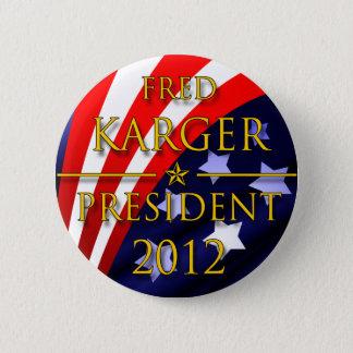 フレッドKarger 2012年の大統領のなボタン 5.7cm 丸型バッジ