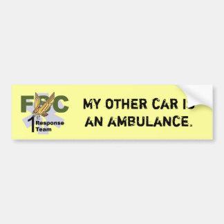 フレディ10は、私の他の車救急車です バンパーステッカー