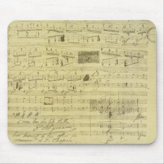 フレデリックショパンの原稿mousepad マウスパッド