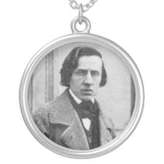 フレデリックショパンの唯一の知られていた写真 シルバープレートネックレス