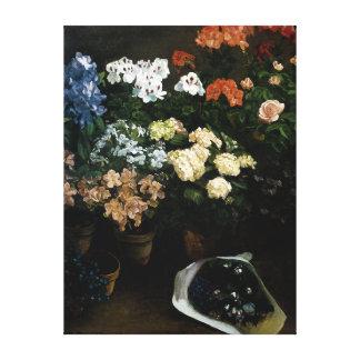 フレデリックBazille著花の勉強 キャンバスプリント