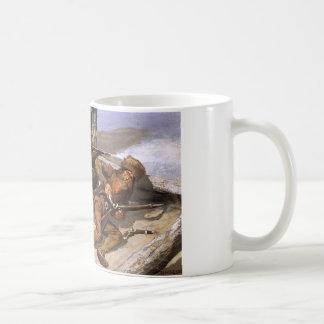 フレデリックRemington著アメリカインディアンが付いているブラシ コーヒーマグカップ