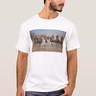 フレデリックRemington著材木のためのダッシュ Tシャツ